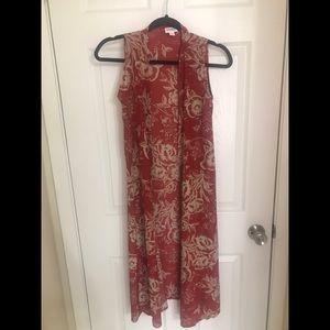 LuLaRoe sleeveless floral kimono size xs
